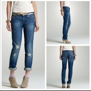 J.Crew Matchstick Jeans Low Rise Distressed Jeans